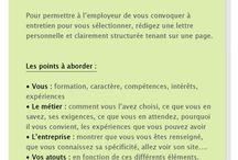 CV / Lettre de motivation / Entretien