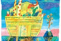 "100 легенд Арарата / Проект товарищества иллюстраторов ""Цех"" — иллюстрации для книги ""100 легенд Арарата"". Координатор Виктор Меламед. https://www.behance.net/gallery/6516313/2010-100-legends-of-Ararat"