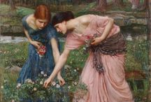 Pre-Raphaelite Types / Love the romanticism of the Pre-Raphaelites...Rosetti, Ruskin, Burne-Jones and Morris PLUS all obviously influenced by them / by Ruth Lee
