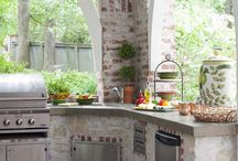 outdoor kitchens / by Marlo Moody