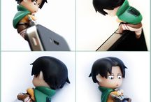 Attack on titan levi phone dust thing