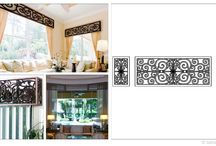 Faux Iron Window Valances and Cornices / Spruce up your living, dining and bedrooms with faux iron window treatments. Tableaux Faux Iron Cornices are sustainable, fine home decor window treatments, manufactured by Tableaux Grilles in Austin, TX. For more information about these Eco-friendly fine home decor fixtures that can be customized to your specifications, call 1(800)281-9963 or email Info@FauxIronDIRECT.com today!