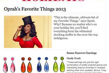 Oprah's Favorite Things 2013 / Our drop earrings selected by Oprah for 'Favorite Things' Holiday gift guide 2013