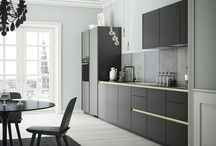 kitchen black grey