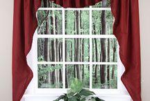 Jabot & Swag Kitchen Curtains