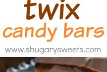 Cookies, candies, popcorns, trail mixes and snack mixes.