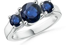 Classic-Blue-Sapphire-Three-Stone-Cathedral-Ring