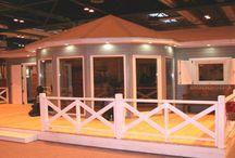 Casas de madera - modelos / Algunos modelos instalados de casas de madera por www.casasdemaderaeconomicas.com