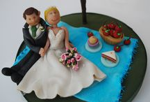 wedding cake toppers / Hi , these are a few of my wedding cake topper's, made by me for brides to be.