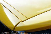 Citroen Ds3 - Wrapping Tetto e Specchietti Giallo / Citroen Ds3 - Wrapping Tetto e Specchietti Giallo Lucido