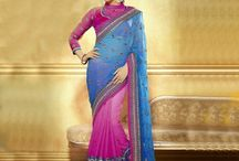 Party Wear Sarees Collection / Jugniji.com : A huge sparkling collection of Indian ethnic wear in our attention-grabbing online showroom whose variety is growing every month. ## http://goo.gl/2nFTy5
