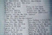 Important / Important things like suicide hotline numbers.