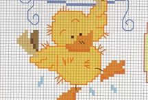 Cross stitch patterns animals for babies / Free cross stitch patterns animals for babies