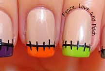 Haloween French tips