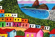 brazil art watercolour