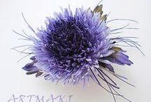 цветы из ткани, фоамирана