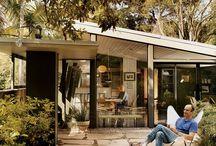 Mid century backyard