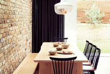 Cool interior with brick walls