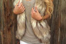 Faux fur vest inspiration