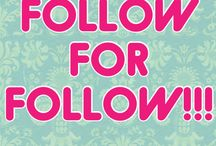 Follow for a Follow / Follow for a follow!