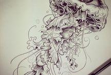 Медузы Татуировки