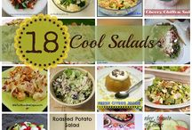 Soup & Salad / Hot savory soups and colorfully healthy salads for side dishes or even the main meal! #recipes #soup #salad