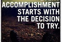 Inspiration / Motivation for success