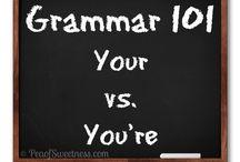 Grammar 101 Series / by Emilee @ Pea of Sweetness