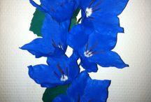 mine blomster / crepe papir blomster