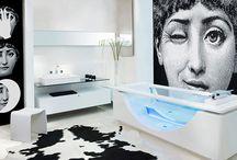 modern washroom  interiors