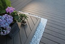 Terranova Composite Decking / Our Terranova decking has 2 different usable sides, is excellent value for money & has all the benefits of composite decking in the most affordable price. Comes in 2.44m & 3.66m lengths, is 20mm thick & 126mm wide.
