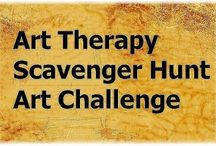 Art Therapy Scavenger Hunt Art Challenge / Co-hosted by The Art Therapy Alliance, New Mexico Art Therapy Association, and Southwestern College : Call for Art: You're invited to our art therapy scavenger hunt! Check out the scavenger hunt list and use found objects and art to create a 2-D or 3-D character that represents art therapy to you, an art therapist you've been inspired by, or a representation of the future of art therapy. Deadline: October 15, 2013.  More info at: http://wp.me/p3bAfe-7v / by Art Therapy Alliance