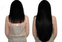 Extension capelli prima e dopo / Risultati con le extension a ciocche con cheratina'