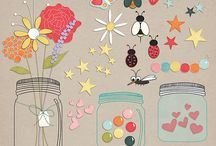 Digital Mason Jars & Projects / Digital mason jars, stamps, files, downloads and projects with them