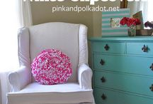 Slipcovers by Kristi ~ Pink and Polka Dot / These are Slipcovers created by Kristi ~ The Slipcover Girl at Pink and Polka Dot / by Pink and Polka Dot
