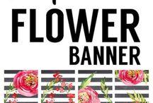 Flower banner free