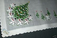 Vtg. Hanky of the Month as seen in Vogue Magazine-50's-Mint
