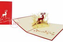Weihnachtskarten / Aufklappbare Weihnachtskarten. Pop Up Karten zu Weihnachten verschenken.