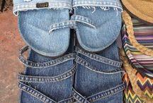 Artesanato chinelo jeans
