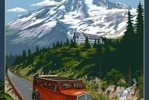 Vintage north american posters