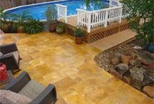 Above Pool Landscaping Ideas