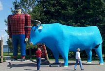 Roadside attractions of Minnesota / Large roadside attractions and statues from around Minnesota