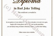Funny Awards / Funny Joke Awards and Prank Diploma's from the www.NaffGiftshop.co.uk