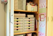 Craft Storage Ideas / Lots of ideas and inspiration for ways to store one's craft supplies.  Keep it safe, tidy and looking good!