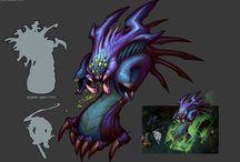 stylised monsters
