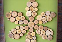 My works / saját alkotásaim / Általam gyűjtött és szeletelt fa korongokból készítem képeimet.