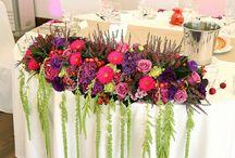 dekoracje stolu młodych