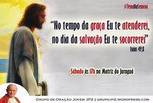 GOJ JP2 / Fotos e Flyers do Grupo de Oração Jovem João Paulo II que acontece todos os sábados a partir das 17h na Capela do Espírito Santo (Fundos da Igreja Matriz do Bairro do Jaraguá)