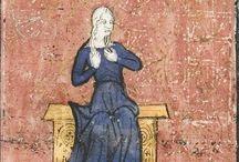 MS - Le Roman de la Rose [ca. 1365] / Le Roman de la Rose (University of Chicago Library MS. 1380)  This copy is dated c. 1365; France. Lots of illustrations of courtly men and women, a couple of illustrations of armoured men, a couple of illustrations of poor men and women. [verify]