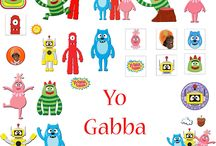 Party: Gabba Invites, Thank You Notes, & Decoration Printables / Kids Party: Gabba Invites, Thank You Notes, & Decoration Printables
